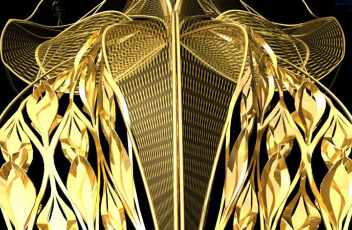 Laser Cut Brass Canopy