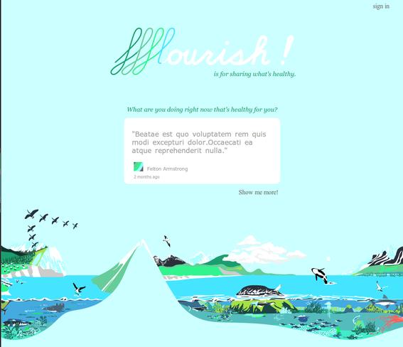 Homepage with a random ffflourish