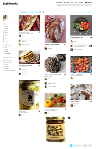 Browse local foods UI